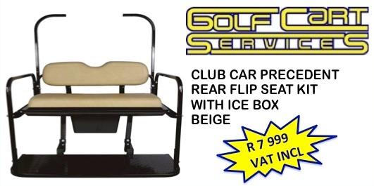 Club Car Precedent Rear Flip Seat