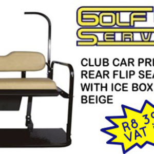 Club Car Precedent Rear Flip Seat Kit with ice box