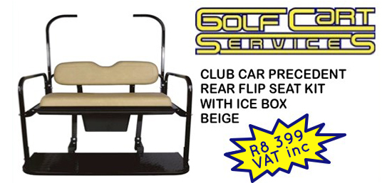 Club car precident rear flip seat kit