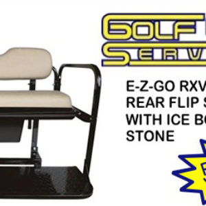 E-Z-GO RXV Rear Flip Seat Kit with Ice Box