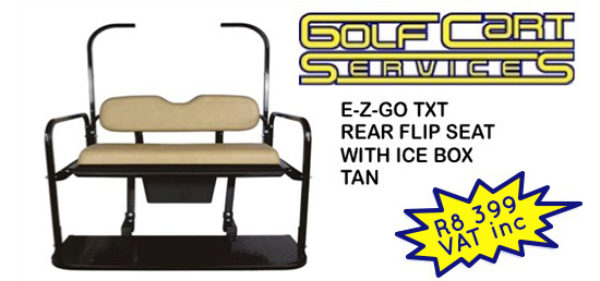 E-Z-GO TXT Rear Flip Seat Kit with Ice Box